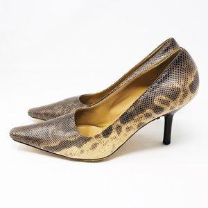 Gucci Snake Skin Heels- 9
